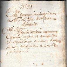Arte: MANUSCRITO SOBRE LA VILLA DE DEVA. GUIPÚZCOA / GIPUZKOA . AÑO 1788. ENCUADERNADO EN PERGAMINO. Lote 54059207
