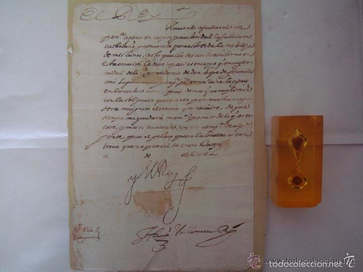 Arte: MANUSCRITO HISTORICO DE LA SUBLEVACIÓN DE LOS CATALANES EN 1640.FIRMADO FELIPE IV - Foto 2 - 55341848