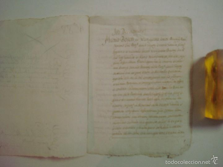 Arte: MANUSCRITO SOBRE LA PARROQUIA DE ST. GREGORIO. GIRONA. 1702. 5 PÁGINAS.FOLIO MENOR - Foto 2 - 57049347