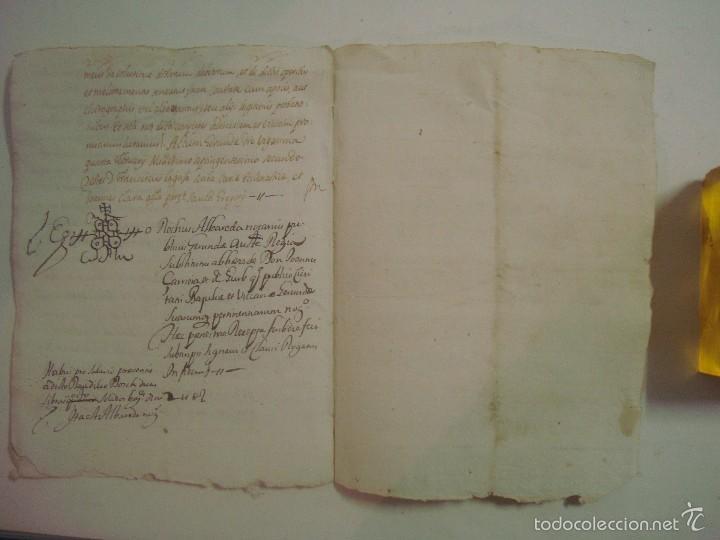 Arte: MANUSCRITO SOBRE LA PARROQUIA DE ST. GREGORIO. GIRONA. 1702. 5 PÁGINAS.FOLIO MENOR - Foto 4 - 57049347