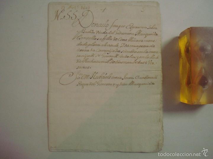 MANUSCRITO DE 1661.VICARIA GERUNDA.TEXTO CATALÁN. 12 PÁGINAS. FOLIO MENOR (Arte - Manuscritos Antiguos)