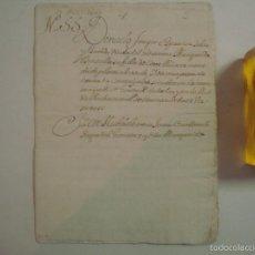 Arte: MANUSCRITO DE 1661.VICARIA GERUNDA.TEXTO CATALÁN. 12 PÁGINAS. FOLIO MENOR. Lote 57049523