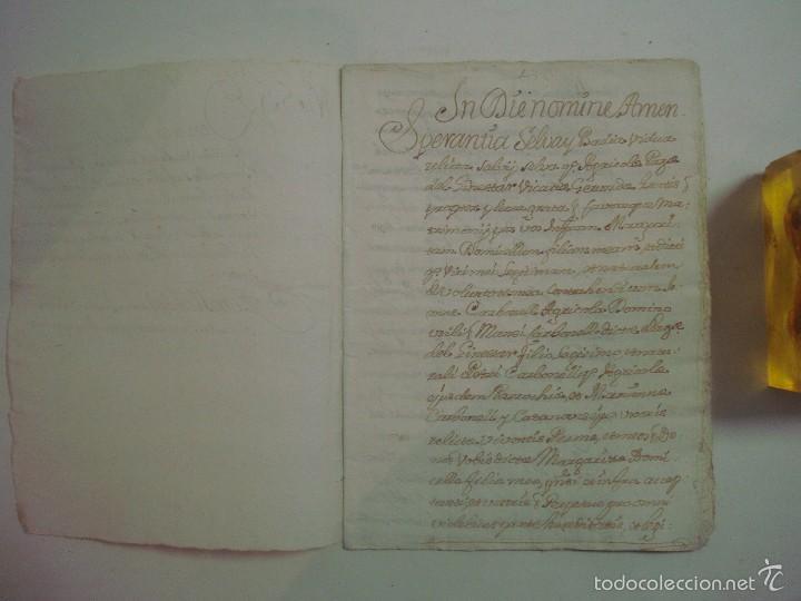 Arte: MANUSCRITO DE 1661.VICARIA GERUNDA.TEXTO CATALÁN. 12 PÁGINAS. FOLIO MENOR - Foto 2 - 57049523