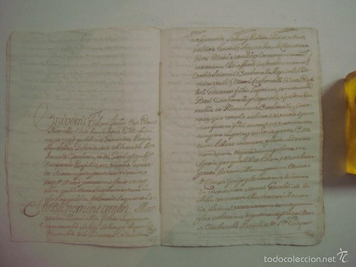Arte: MANUSCRITO DE 1661.VICARIA GERUNDA.TEXTO CATALÁN. 12 PÁGINAS. FOLIO MENOR - Foto 3 - 57049523