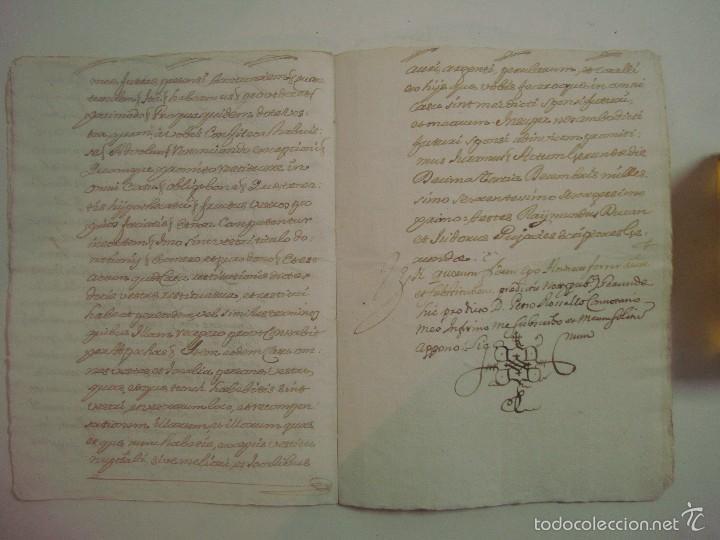 Arte: MANUSCRITO DE 1661.VICARIA GERUNDA.TEXTO CATALÁN. 12 PÁGINAS. FOLIO MENOR - Foto 4 - 57049523