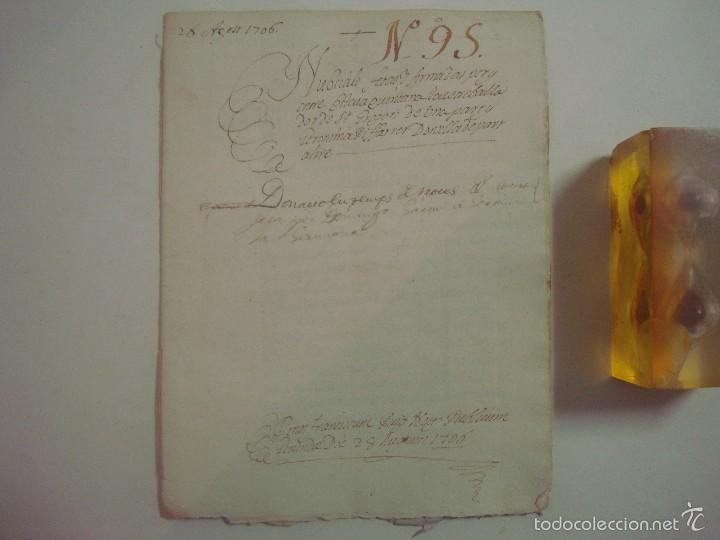 MANUSCRITO DE 1706. GERUNDA.GIRONA. NUBCIALS.TEXTO LATÍN. 7 PÁGINAS.FOLIO MENOR (Arte - Manuscritos Antiguos)