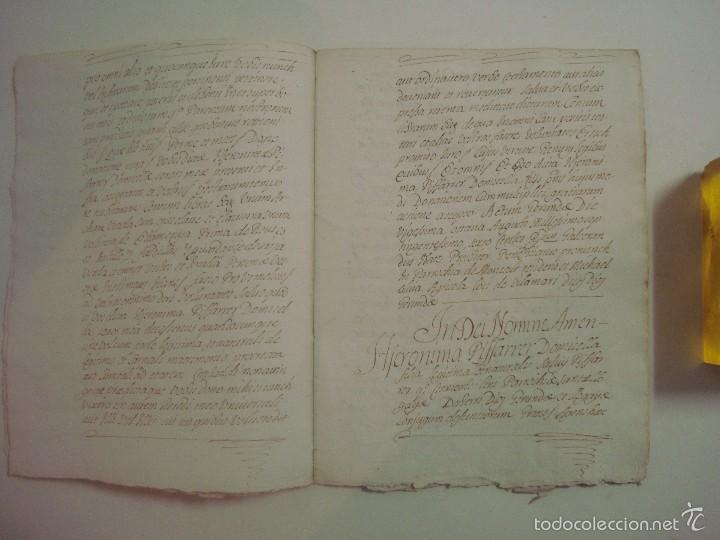 Arte: MANUSCRITO DE 1706. GERUNDA.GIRONA. NUBCIALS.TEXTO LATÍN. 7 PÁGINAS.FOLIO MENOR - Foto 3 - 57049657