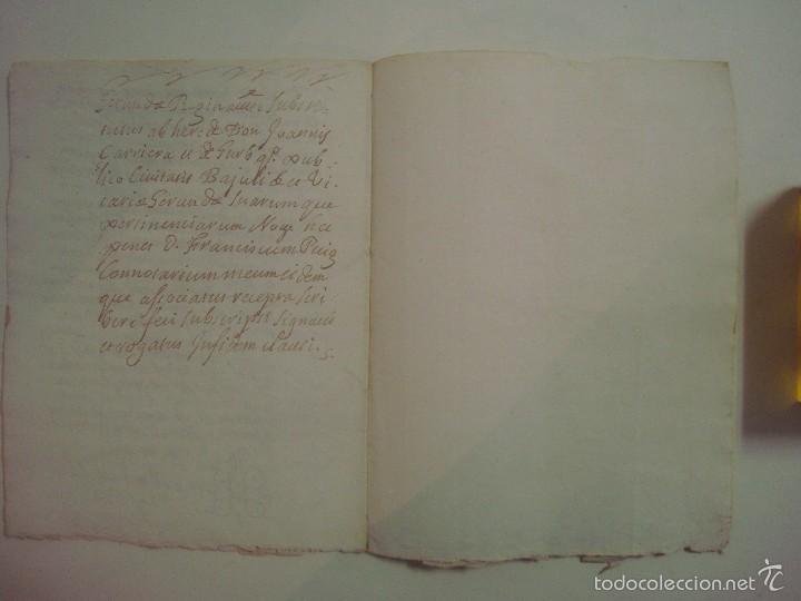 Arte: MANUSCRITO DE 1706. GERUNDA.GIRONA. NUBCIALS.TEXTO LATÍN. 7 PÁGINAS.FOLIO MENOR - Foto 5 - 57049657