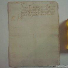 Arte: MANUSCRITO DE 1696.DONACIÓN.TEXTO LATIN Y CATALÁN.GERUNDA FOLIO MENOR. 9 PÁGINAS. Lote 57049826