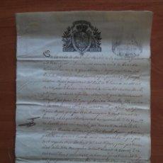 Arte: 1838 BAÑOLAS - CONTENIDO RELACIONADO CON UNA HERENCIA - UN SIGNUM - CINCO PÁGINAS. Lote 57679815