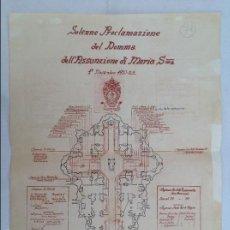 Arte: FACSÍMIL DEL PLANO DE LA PROCLAMACIÓN DEL DOGMA DE MARÍA SANTÍSIMA EN 1950. Lote 60460387