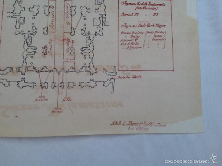 Arte: Facsímil del plano de la proclamación del Dogma de María Santísima en 1950 - Foto 2 - 60460387