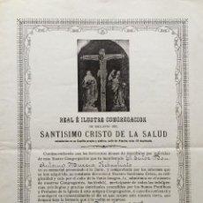 Arte: CARTA DE ESCLAVITUD CRISTO DE LA SALUD. Lote 62758448