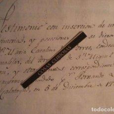 Arte: CANALEJAS DE PEÑAFIEL VALLADOLID - MARIA CATALINA DE PORRES CONDESA CANALEJAS EJECUTORIA AÑO 1727. Lote 68621737