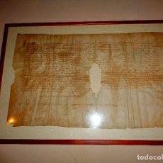 Arte: MANUSCRITO SIGLO XIV SOBRE PIEL. Lote 76149051