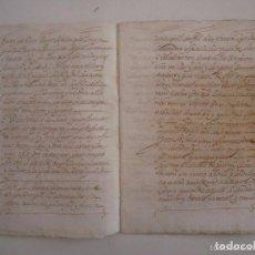 Arte: MANUSCRITO DE 1671 CAPITOLS MATRIMONIALS. GIRONA. CASTELL DE BRUNYOLA. 24 PÁGINAS. Lote 83683868