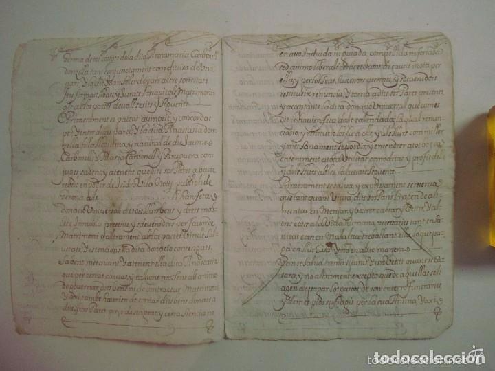 MANUSCRITO DE 1679.DE CAPITOLS MATRIMONIALS. GERONA..TEXTO CATALÁN.16 PÁGINAS (Arte - Manuscritos Antiguos)