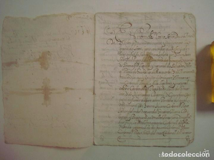 Arte: MANUSCRITO DE 1679.DE CAPITOLS MATRIMONIALS. GERONA..TEXTO CATALÁN.16 PÁGINAS - Foto 3 - 83812672