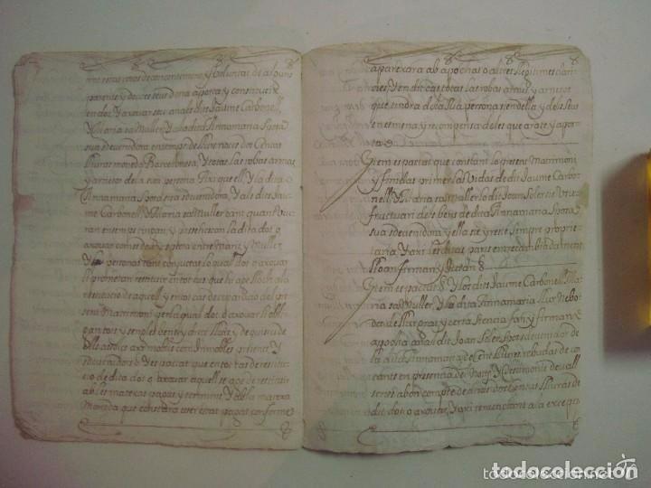Arte: MANUSCRITO DE 1679.DE CAPITOLS MATRIMONIALS. GERONA..TEXTO CATALÁN.16 PÁGINAS - Foto 4 - 83812672