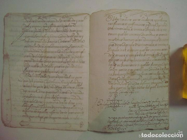 Arte: MANUSCRITO DE 1679.DE CAPITOLS MATRIMONIALS. GERONA..TEXTO CATALÁN.16 PÁGINAS - Foto 5 - 83812672