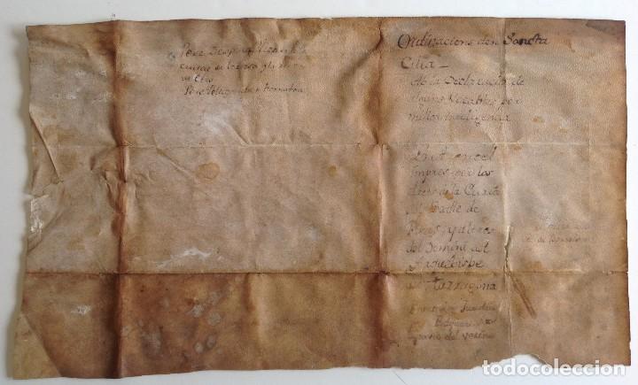 Arte: Circa 1459 Tortosa Pergamino CARTAS DE PRIVILEGIOS Y FRANQUEZAS nombre diferentes reyes desde S XII - Foto 9 - 83918736