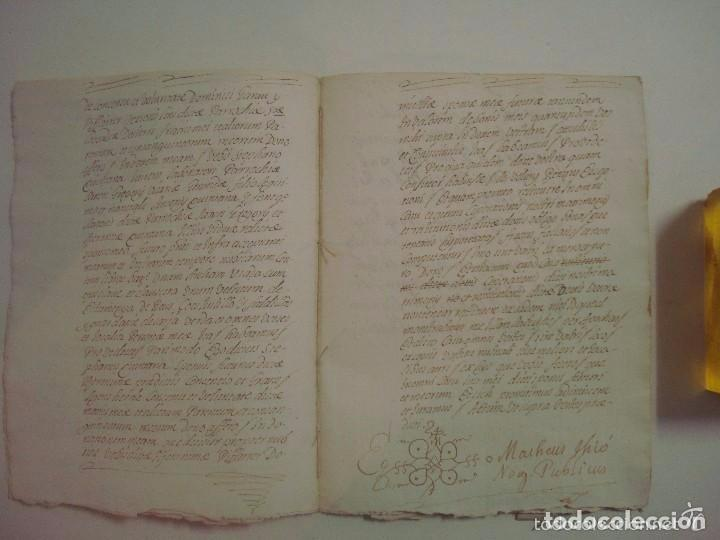 Arte: MANUSCRITO DE 1706. GERUNDA.GIRONA. NUBCIALS.TEXTO LATÍN. 7 PÁGINAS.FOLIO MENOR - Foto 4 - 84460248