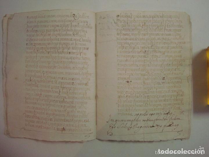 MANUSCRITO DE 1696.DONACIÓN.TEXTO LATIN Y CATALÁN.GERUNDA FOLIO MENOR. 9 PÁGINAS (Arte - Manuscritos Antiguos)