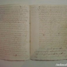 Arte: MANUSCRITO DE 1696.DONACIÓN.TEXTO LATIN Y CATALÁN.GERUNDA FOLIO MENOR. 9 PÁGINAS. Lote 84461052