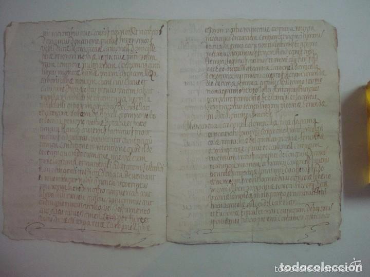 Arte: MANUSCRITO DE 1696.DONACIÓN.TEXTO LATIN Y CATALÁN.GERUNDA FOLIO MENOR. 9 PÁGINAS - Foto 4 - 84461052