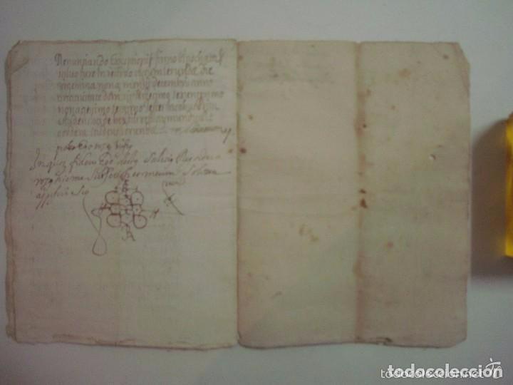 Arte: MANUSCRITO DE 1696.DONACIÓN.TEXTO LATIN Y CATALÁN.GERUNDA FOLIO MENOR. 9 PÁGINAS - Foto 6 - 84461052