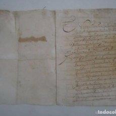 Arte: MANUSCRITO DEL SIGLO XVII EN BLANES. CUARTILLA EN FOLIO MENOR. 3 PÁGINAS.. Lote 84461856