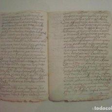 Arte: MANUSCRITO DE 1699.DONACIÓN. GIRONA.TEXTO LATÍN. FOLIO MENOR. 9 PÁGINAS. Lote 84462736