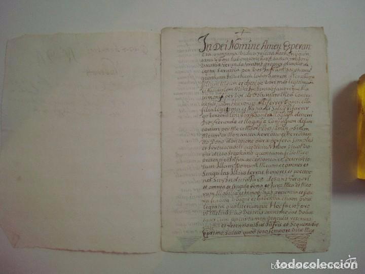 MANUSCRITO DE 1708.ST. GREGORI.GIRONA. TEXTO LATÍN. FOLIO MENOR. 5 PÁGINAS (Arte - Manuscritos Antiguos)