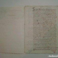 Arte: MANUSCRITO DE 1708.ST. GREGORI.GIRONA. TEXTO LATÍN. FOLIO MENOR. 5 PÁGINAS. Lote 84463092