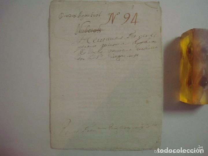 Arte: MANUSCRITO DE 1708.ST. GREGORI.GIRONA. TEXTO LATÍN. FOLIO MENOR. 5 PÁGINAS - Foto 2 - 84463092