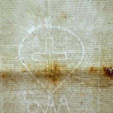 Arte: 20 HOJAS PAPEL MEDIEVAL AÑO 1592 EN BLANCO,CON MARCA DE AGUA,SANTA INQUISICION ?,REGALO MANUSCRITO. Lote 96572931