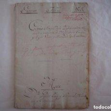 Arte: RARÍSIMO MANUSCRITO DE 1805. GENEALOGIA DE CONDES DE BARCELONA. 72 PÁGINAS. Lote 97588339