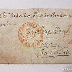 Arte: MANUSCRITO SELLADO ANTEQUERA FEBRERO 1835. Lote 104224279