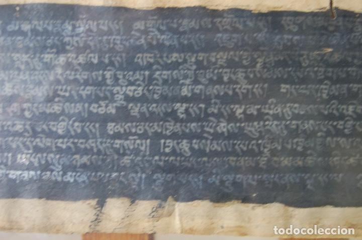 Arte: Manuscrito Tibetano. Enmarcado doble cristal de 56 x 35,5. Son dos tiras de 12,5 x 48. - Foto 3 - 109033947