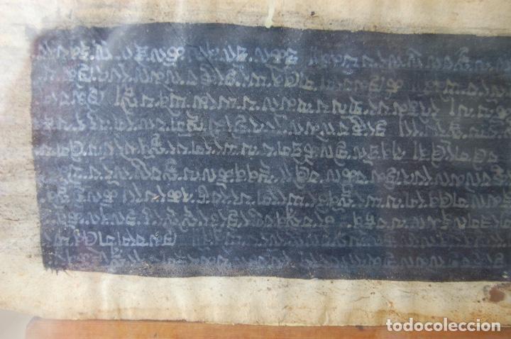 Arte: Manuscrito Tibetano. Enmarcado doble cristal de 56 x 35,5. Son dos tiras de 12,5 x 48. - Foto 7 - 109033947