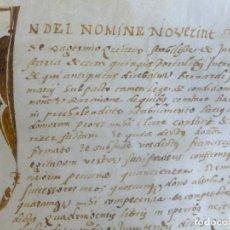 Arte: MANUSCRITO PERGAMINO CATALUÑA PERMUTA CASAS B DARRER DE BARCELONA F AMAT 1542 . Lote 109055291