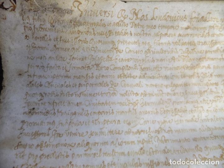 Arte: Manuscrito en pergamino Cataluña Girona L Fororellas de Tayala 1590 - Foto 3 - 109648887