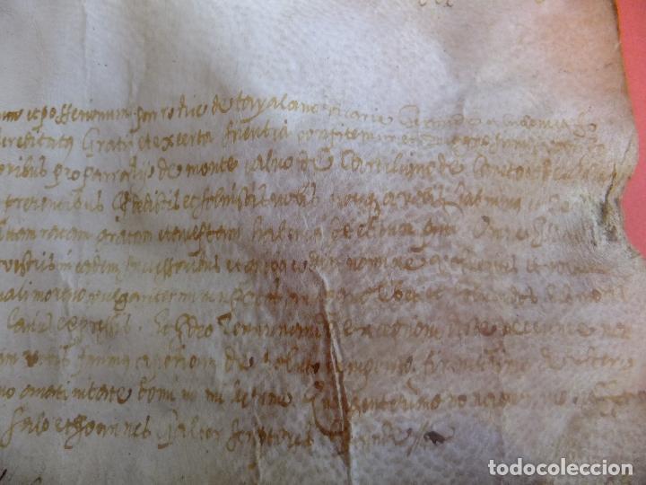 Arte: Manuscrito en pergamino Cataluña Girona L Fororellas de Tayala 1590 - Foto 4 - 109648887