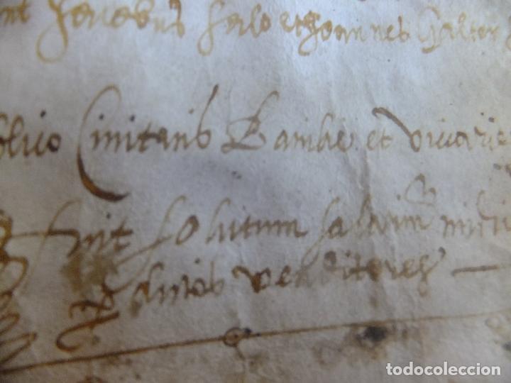 Arte: Manuscrito en pergamino Cataluña Girona L Fororellas de Tayala 1590 - Foto 5 - 109648887