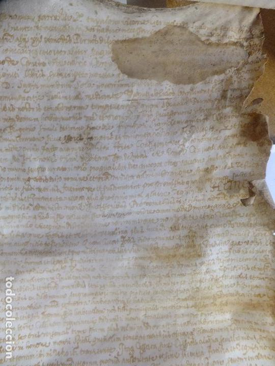 Arte: Manuscrito en pergamino Cataluña Girona L Fororellas de Tayala 1590 - Foto 6 - 109648887