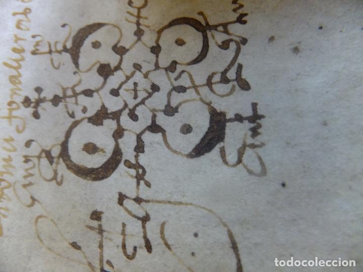 Arte: Manuscrito en pergamino Cataluña Girona L Fororellas de Tayala 1590 - Foto 7 - 109648887