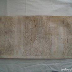 Art: LIBRERIA GHOTICA. GRAN PERGAMINO MANUSCRITO DEL SIGLO XVII. 1644.CAN PADROSA. GIRONA 60 X 24 CM.. Lote 110277203