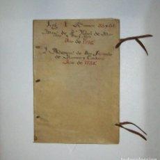 Art: MANUSCRITO EN PERGAMINO O VITELA FECHADO EN 1738 CONSTA DE 17 HOJAS MEDIDAS 32X22 CM. Lote 111344995