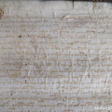 Art: LIBRERIA GHOTICA.MANUSCRITO MEDIEVAL EN PERGAMINO DEL S. XIV. 55 X 34CM.1361.BUENA CALIGRAFIA.GIRONA. Lote 117030615