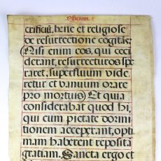 Art: PAR-11 PARTITURA DE GREGORIANO EN PERGAMINO ESCRITO A MANO. SIGLO XVIII. Lote 118264135